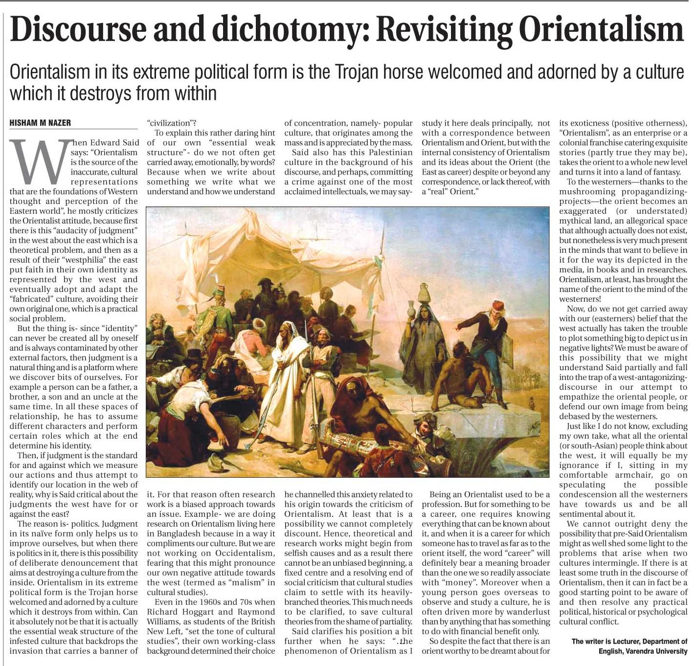examining the definition of western orientalism cultural studies essay Orientalism: orientalism means the study of near and far eastern societies and cultures, languages, and peoples by western scholars orientalism by edward said is a cononical text of cultural studies in which he challenges the concept of orientalism or the difference between east and west.