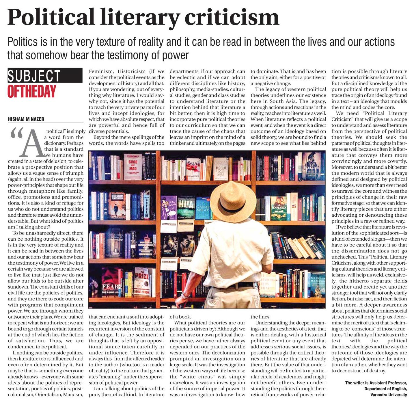 Political Literary Criticism | Being and Becoming
